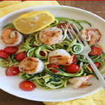 Image of Zucchini Noodles Lemon-Garlic Spicy Shrimp